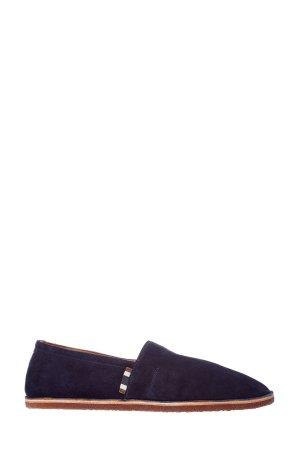 Эспадрильи из матовой замши BRUNELLO CUCINELLI. Цвет: синий