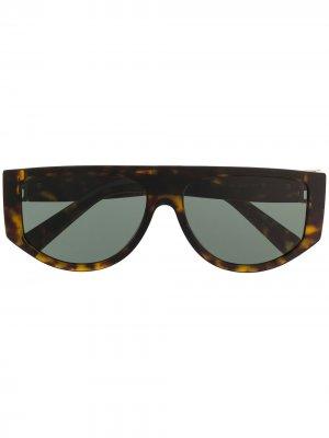 Солнцезащитные очки в круглой оправе Givenchy Eyewear. Цвет: коричневый