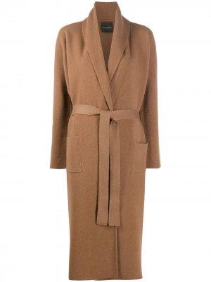 Пальто с запахом Roberto Collina. Цвет: коричневый