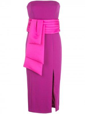 Платье миди Kia без бретелей Jay Godfrey. Цвет: фиолетовый