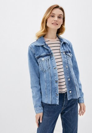 Куртка джинсовая Rich&Royal. Цвет: голубой