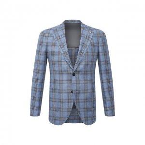 Пиджак из шерсти и шелка L.B.M. 1911. Цвет: голубой