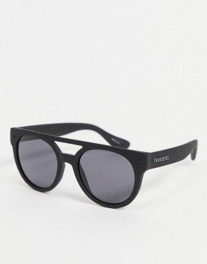Солнцезащитные очки унисекс в массивной оправе Buzios-Черный цвет Havaianas