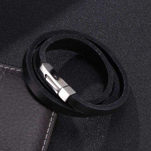 Мужской Многослойный браслет минималистичный SHEIN. Цвет: чёрный