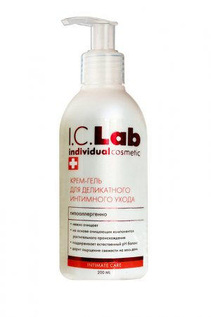 Крем-гель для интимного ухода I.C.LAB INDIVIDUAL COSMETIC. Цвет: белый