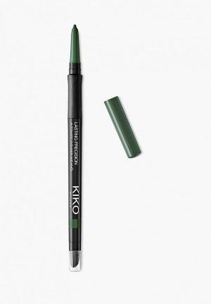 Карандаш для глаз Kiko Milano автоматический внутреннего и внешнего века LASTING PRECISION AUTOMATIC EYELINER AND KHÔL, оттенок 11, Camouflage Green, 0.35 г. Цвет: зеленый