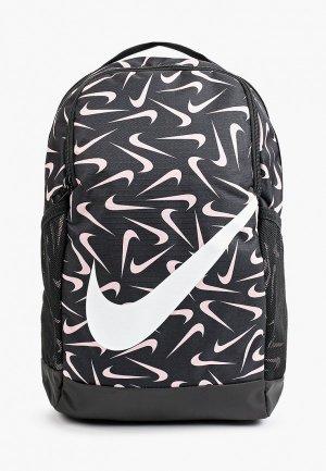 Рюкзак Nike Y NK BRSLA BKPK - AOP FA21. Цвет: черный