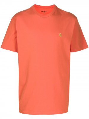 Футболка из джерси Carhartt WIP. Цвет: оранжевый