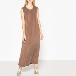 Длинное платье прямого покроя без рукавов MEADOW AMERICAN VINTAGE. Цвет: хаки