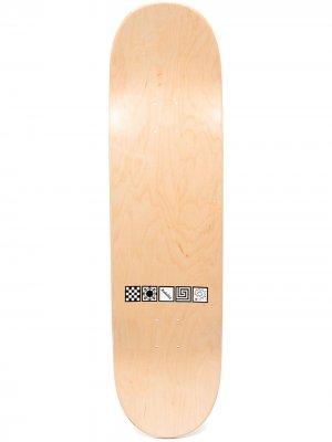 Скейтборд с логотипом PACCBET. Цвет: нейтральные цвета