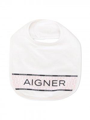 Нагрудник с логотипом Aigner Kids. Цвет: белый