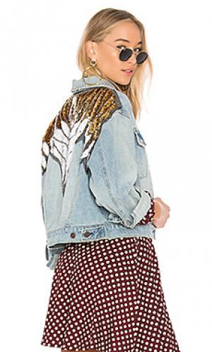 Украшенная джинсовая куртка glam Free People. Цвет: none