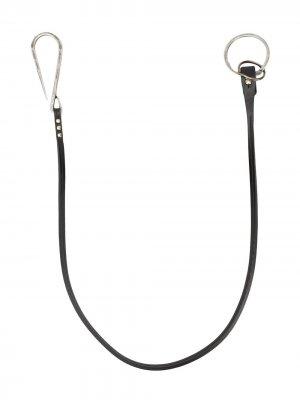 Брелок для ключей Ann Demeulemeester. Цвет: черный