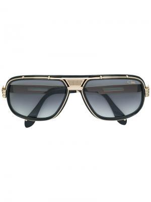 Солнцезащитные очки в оправе из металла и ацетата Cazal. Цвет: черный