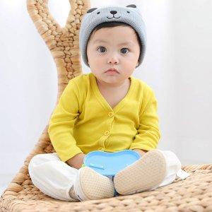 Одноцветный Повседневный пальто для малышей SHEIN. Цвет: жёлтые