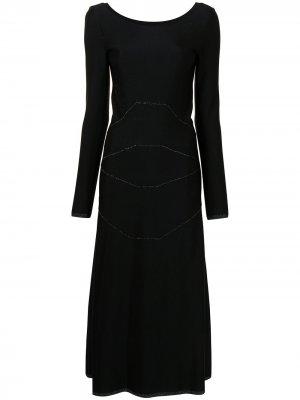 Платье макси в технике пэчворк с блестками Alaïa Pre-Owned. Цвет: черный
