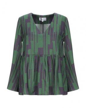 Блузка BINI Como. Цвет: зеленый