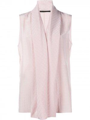 Блузка с воротником-шалькой Haider Ackermann. Цвет: розовый