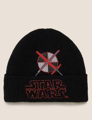 Зимняя шапка с изображением Star Wars™ Marks & Spencer. Цвет: мульти