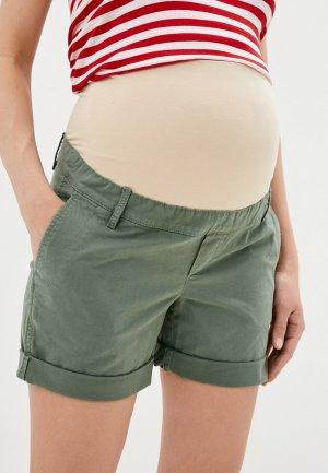 Шорты Gap Maternity. Цвет: хаки