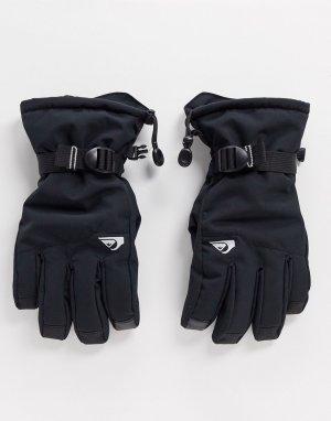 Черные перчатки Mission-Черный Quiksilver
