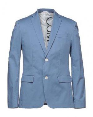 Пиджак CALVIN KLEIN. Цвет: пастельно-синий