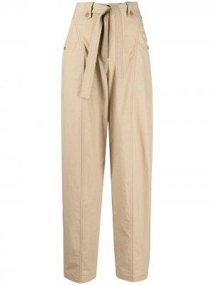 Укороченные брюки с поясом Kenzo. Цвет: нейтральные цвета