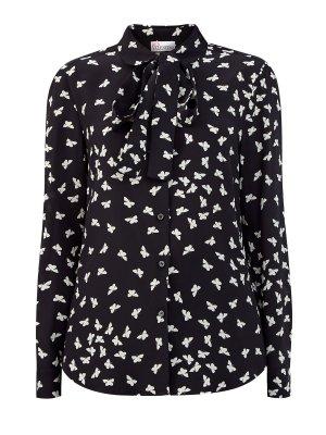Шелковая блуза с принтом «Тысяча бабочек» REDVALENTINO. Цвет: мульти