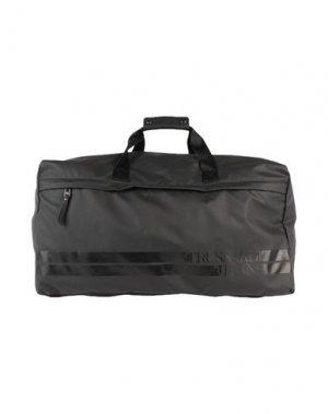 Дорожная сумка TRUSSARDI JEANS. Цвет: черный