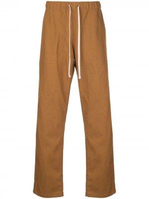Брюки с кулиской Battenwear. Цвет: оранжевый