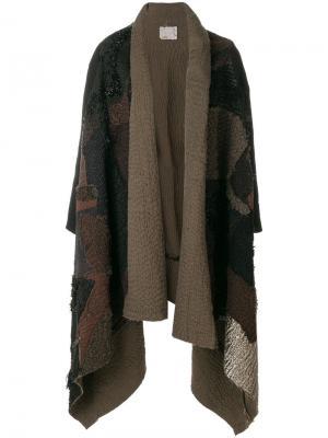 Пальто-кейп с драпировкой спереди By Walid. Цвет: чёрный