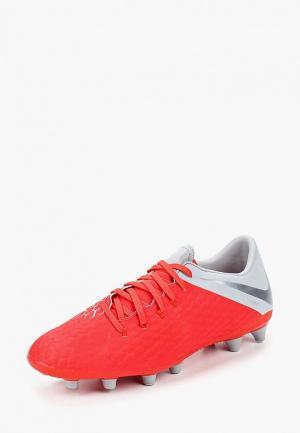 Бутсы Nike Hypervenom III Academy AG-PRO. Цвет: красный