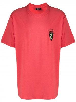 Graphic print T-shirt Stussy. Цвет: красный