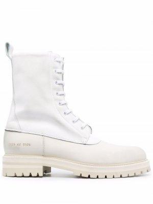 Массивные ботинки на шнуровке Common Projects. Цвет: белый