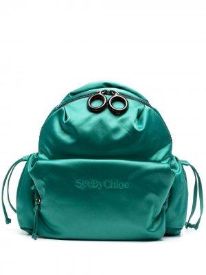 Атласный рюкзак Tilly See by Chloé. Цвет: зеленый