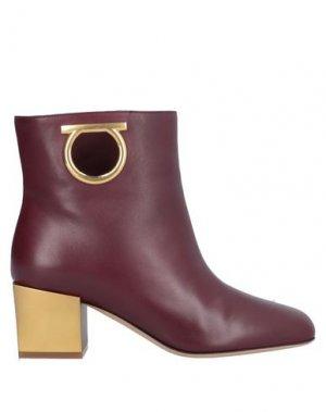 Полусапоги и высокие ботинки SALVATORE FERRAGAMO. Цвет: красно-коричневый