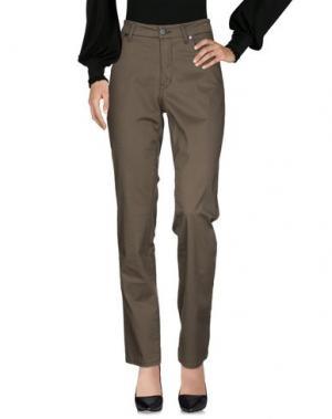 Повседневные брюки MARANI JEANS. Цвет: зеленый-милитари