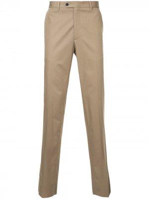 Классические брюки Gieves & Hawkes. Цвет: коричневый