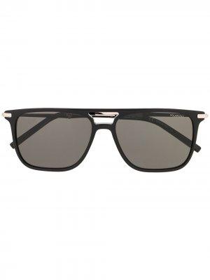Солнцезащитные очки в прямоугольной оправе Salvatore Ferragamo. Цвет: черный