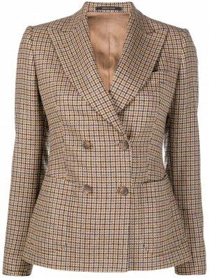 Plaid-check pattern wool blazer Tagliatore. Цвет: нейтральные цвета