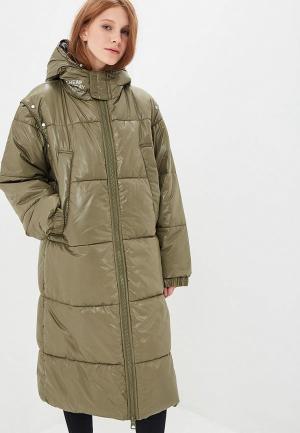 Куртка утепленная Cheap Monday. Цвет: зеленый