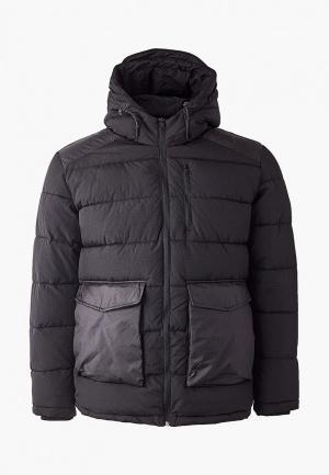 Куртка утепленная Jack & Jones. Цвет: черный