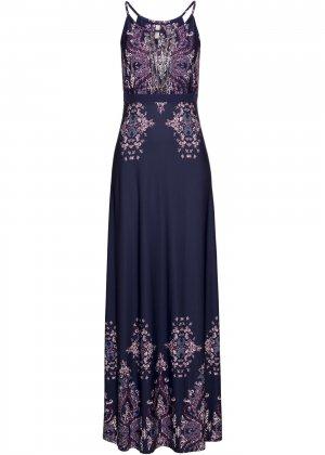 Летнее платье bonprix. Цвет: синий
