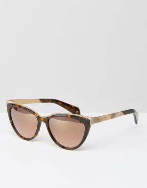 Солнцезащитные очки кошачий глаз Swift Ted Baker. Цвет: коричневый