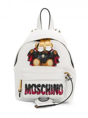 Мини-рюкзак Bat Teddy Bear Moschino. Цвет: белый