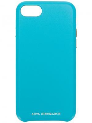 Чехол для iPhone 7/8 Pimp Your Phone Anya Hindmarch. Цвет: синий