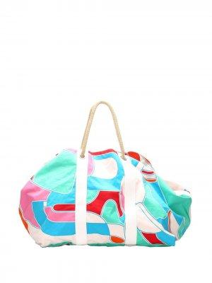 Пляжная сумка Bateau Jeux dAnimaux Hermès. Цвет: синий