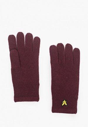 Перчатки Lyle & Scott. Цвет: бордовый