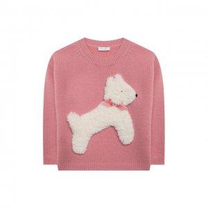 Шерстяной пуловер Il Gufo. Цвет: розовый
