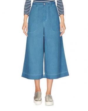 Джинсовые брюки-капри VIVIENNE WESTWOOD ANGLOMANIA. Цвет: синий